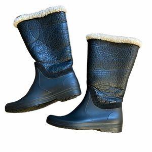 SANTANA Faux Fur Fall / Winter warm Boots. Black Size 37 GUC